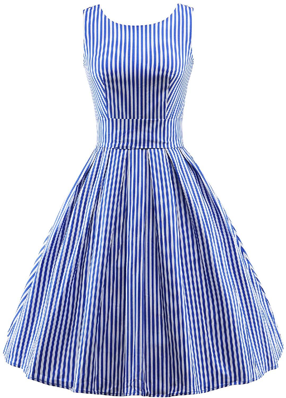 Vintage 1950s Dress for Women Retro Tea Party Dress Party Cocktail Sleeveless Dress