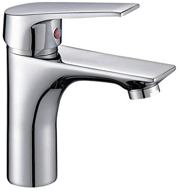 Single Handle Bathroom Faucet with Faucet Supply Lines, Modern and Commercial Lavatory Sink Faucet in Polished Chrome