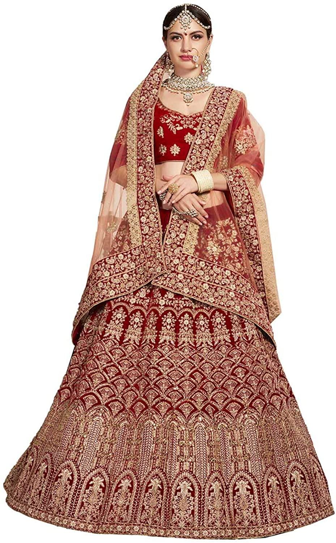 Indian Women Designer Partywear Ethnic Traditional Red Lehenga Choli.ICW2794-8