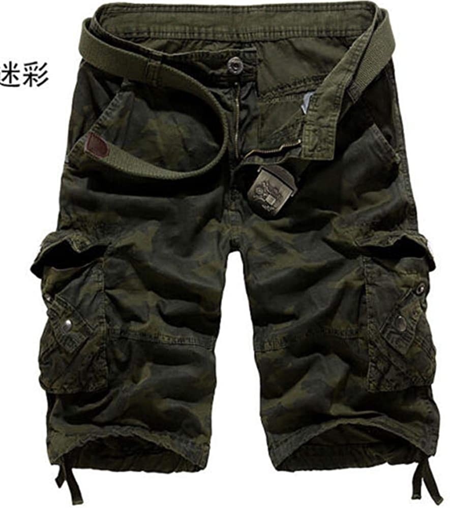 Zebery Men's Shorts Army Green Camouflage Pants 32