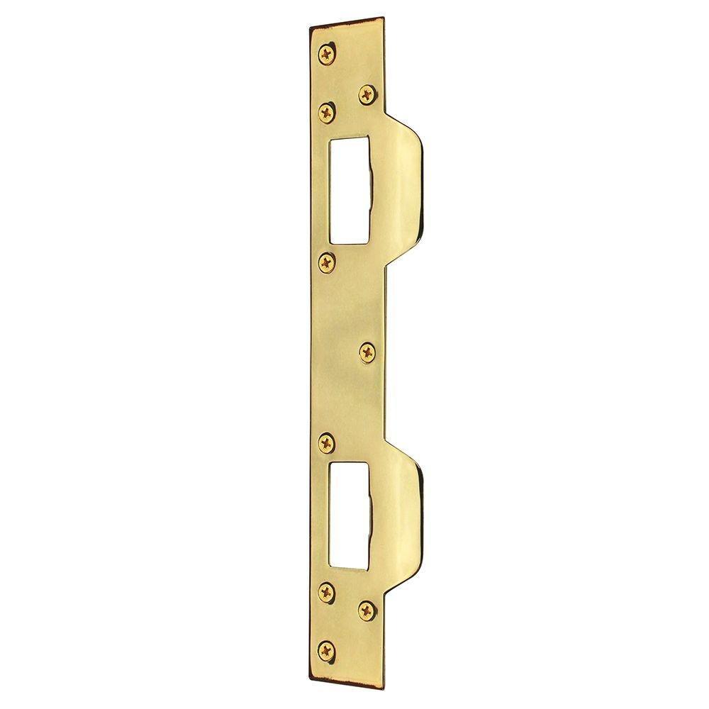 Defiant Bright Brass Security Latch Strike