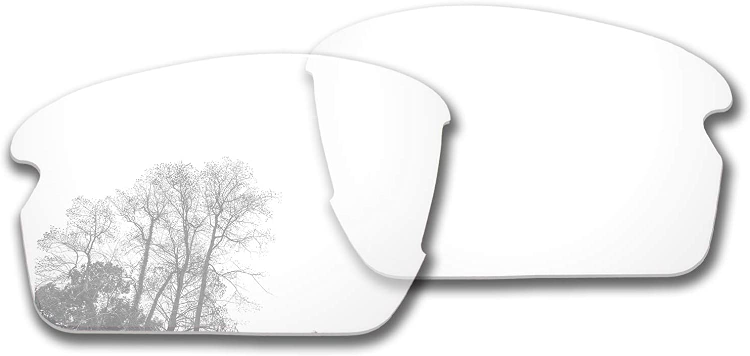 Bsymbo Lenses/Rubber Kits Replacement for Oakley Flak 2.0 Asian Fit OO9271 Sunglass - Multiple Options