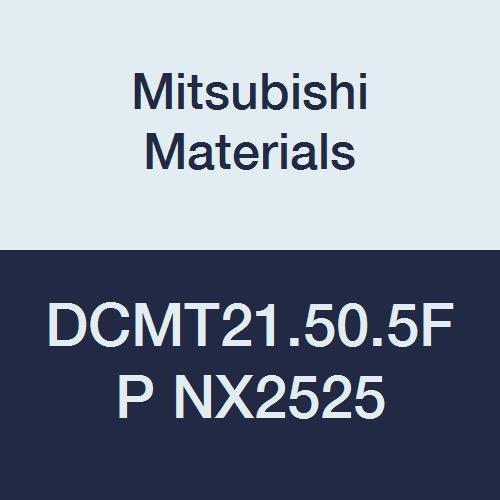 Mitsubishi Materials DCMT21.50.5FP NX2525 Cermet DC Type Positive Turning Insert with Hole, Stable Cutting, Rhombic 55°, 0.25