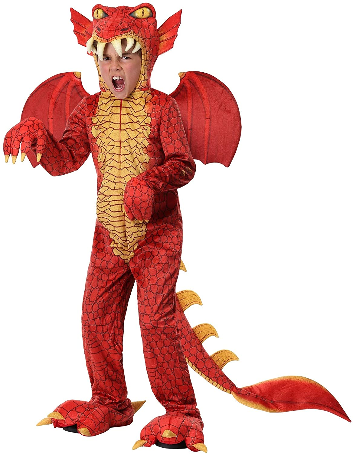 Kids Deluxe Red Dragon Costume
