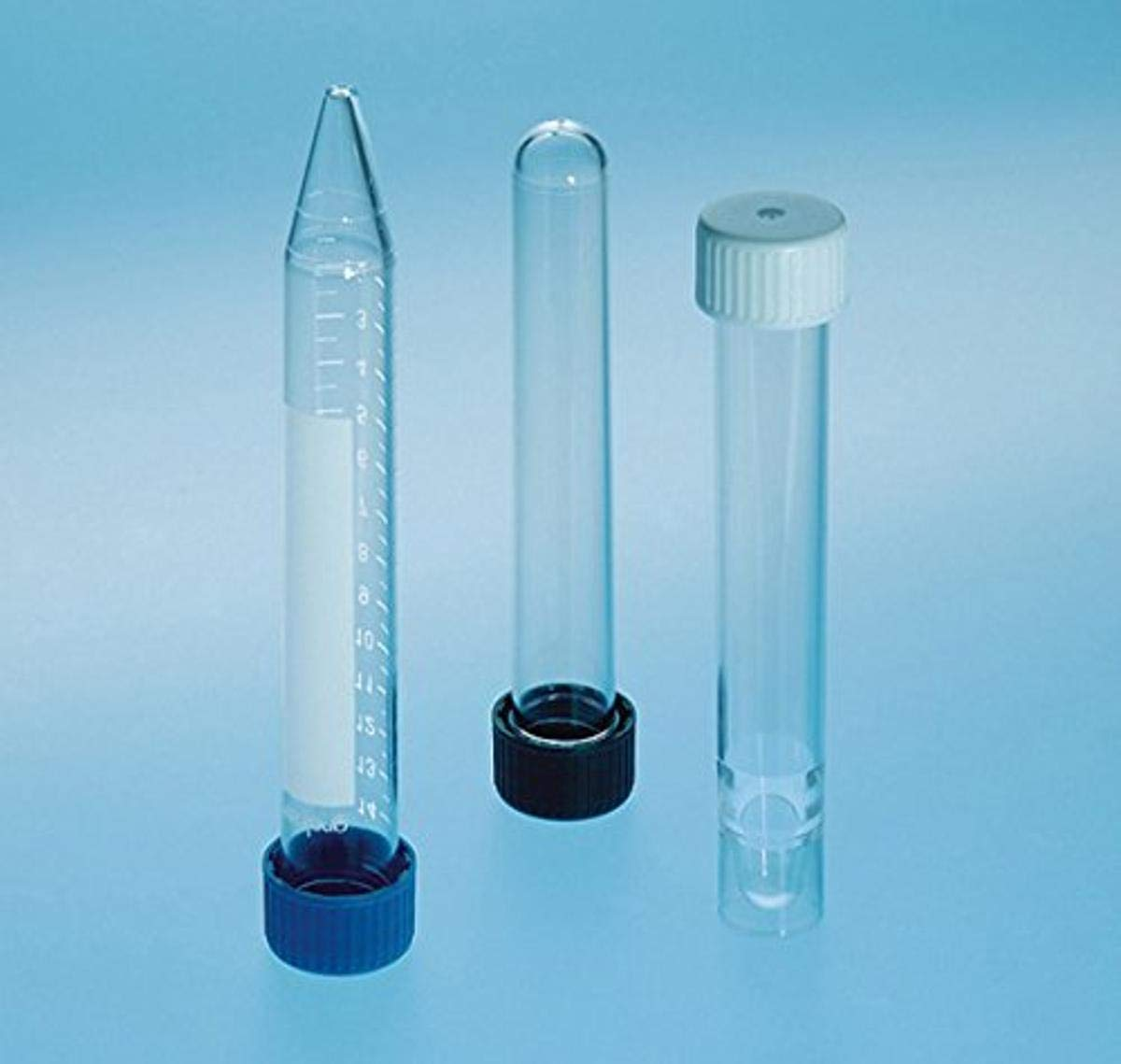 Greiner Bio-One 163270 Test Tube, Round Bottom, White Screw Cap, 16mm Diameter, 100mm Height, 12ml Nominal Volume, Polypropylene (Pack of 900)