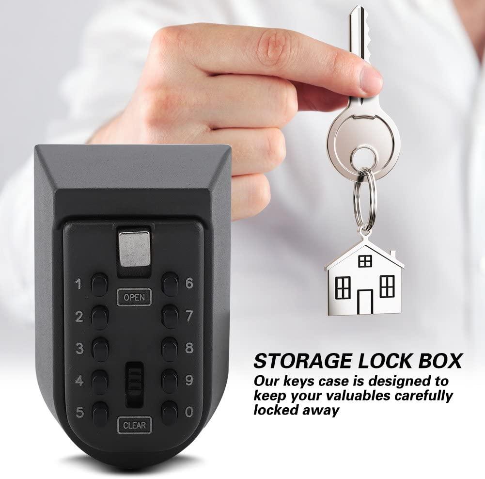 Aluminium Alloy Security Key Box, Rust-Proof Storage Key Box, Waterproof for Home Company