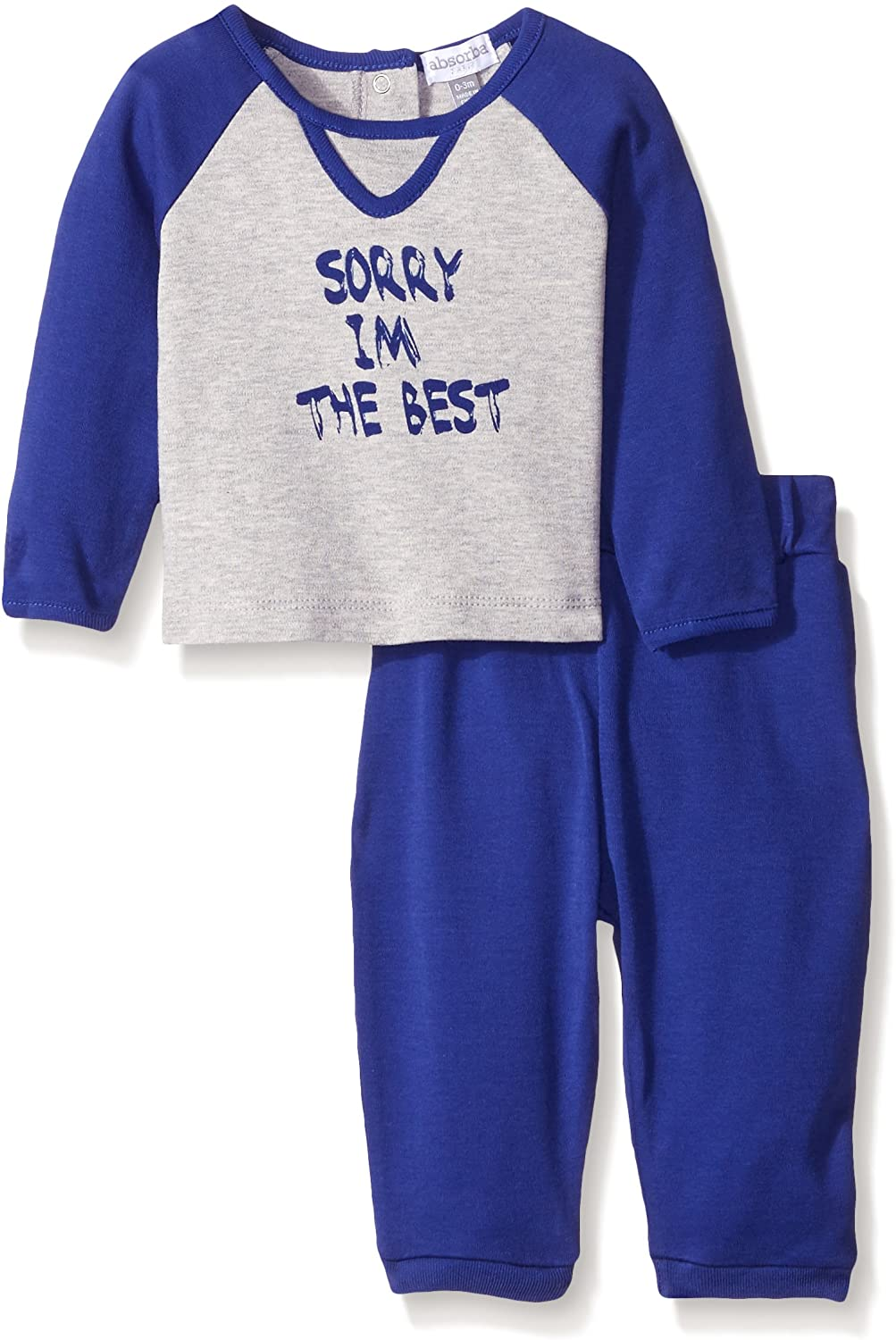 ABSORBA Baby-Boys Sorry I'm The Best Pant Set