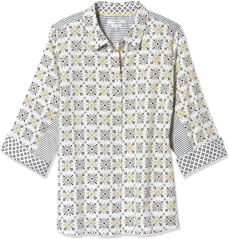 Foxcroft Women's Plus Size Button Front Shirt