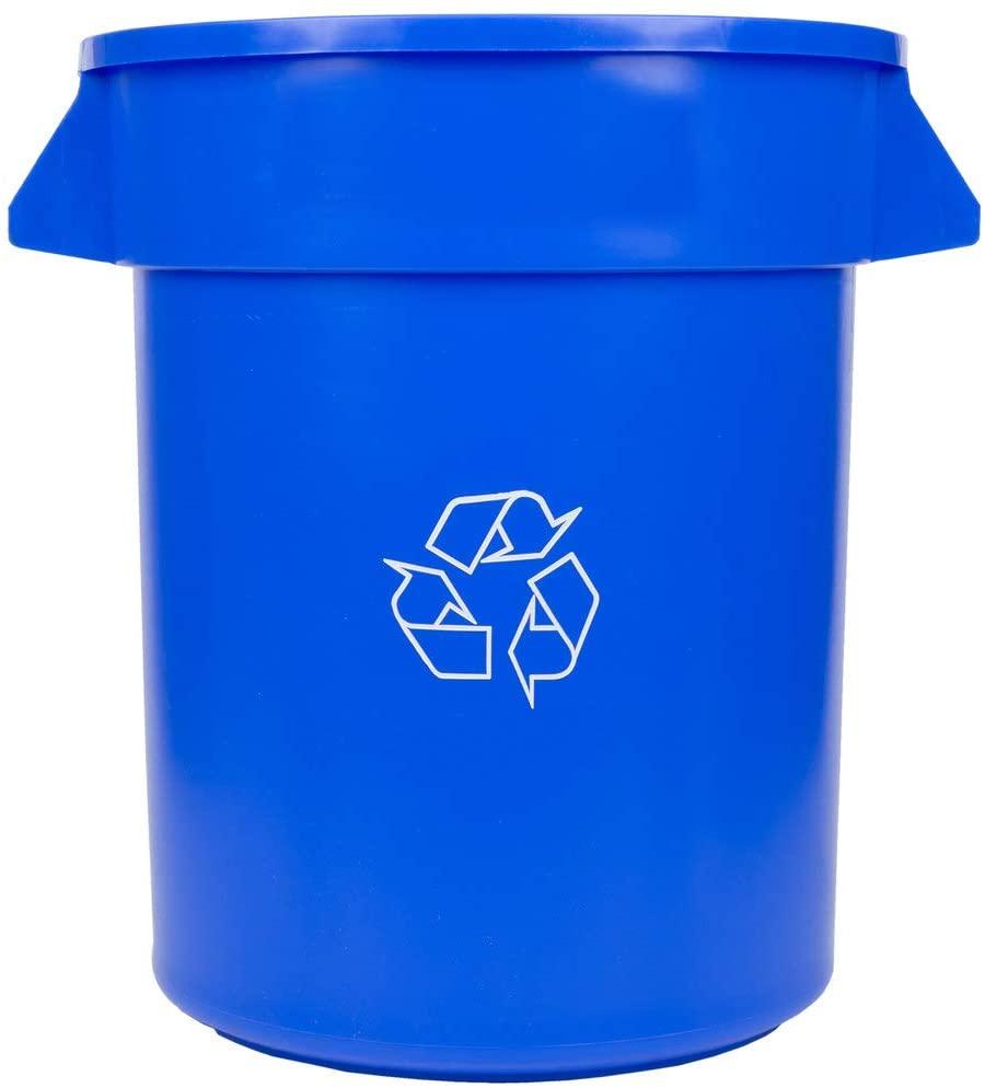 4 Pack! 20 Gallon / 75 Liters Blue Recycling Bin. Trash Container. Trash Bucket. Garbage Bin. Waste Bin. Home Trash Can. Commercial Waste bin