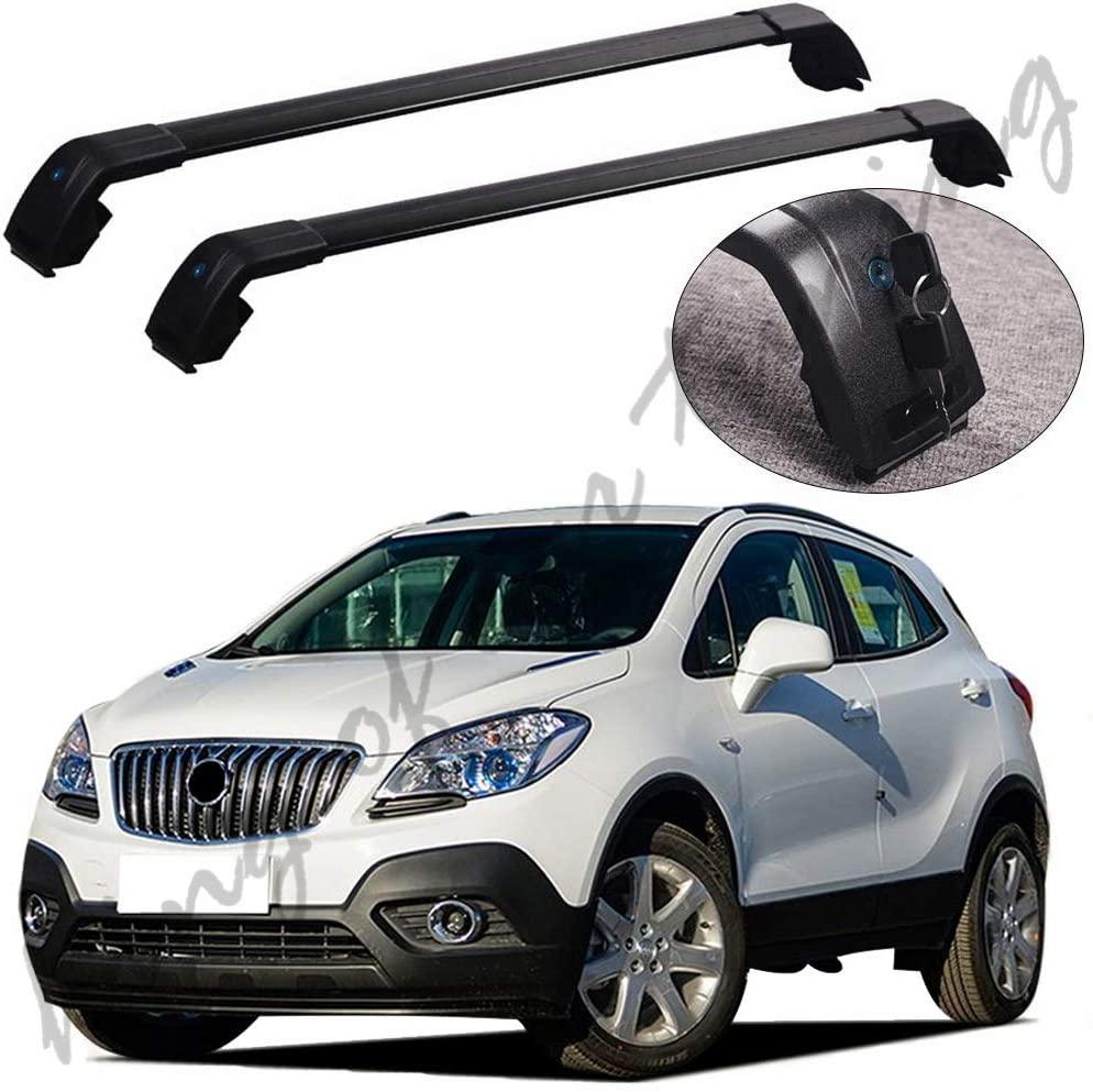 king of car tuning Black Crossbars Cross Bars Roof Rail Racks Fits for Buick Encore Opel Mokka 2012-2019
