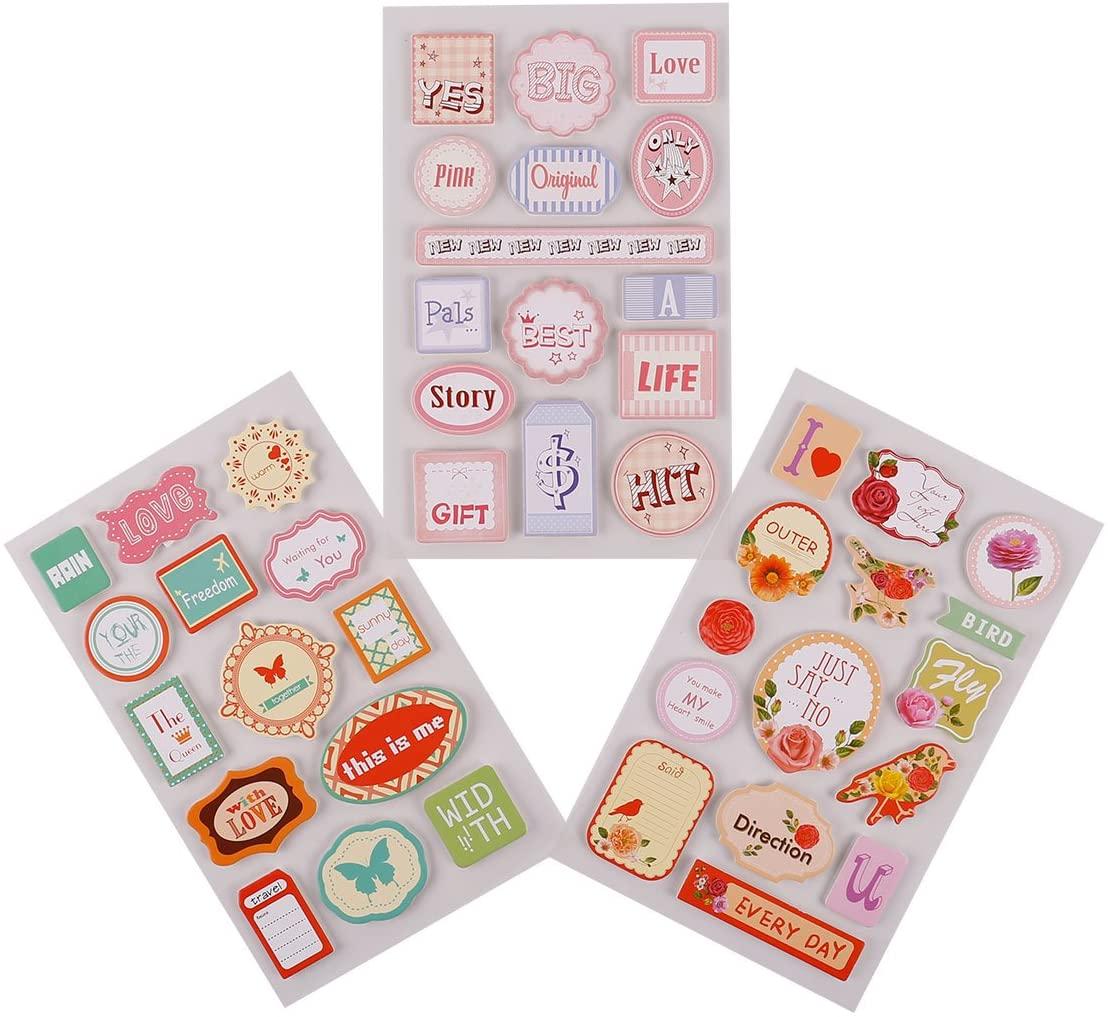 FaCraft Scrapbooking Stickers 3D Stickers (Love)