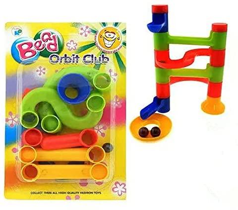 OKOKMALL US--Children DIY Ball Building Blocks KIDS Toy Assembly Stereoscopic Maze Pipe Track
