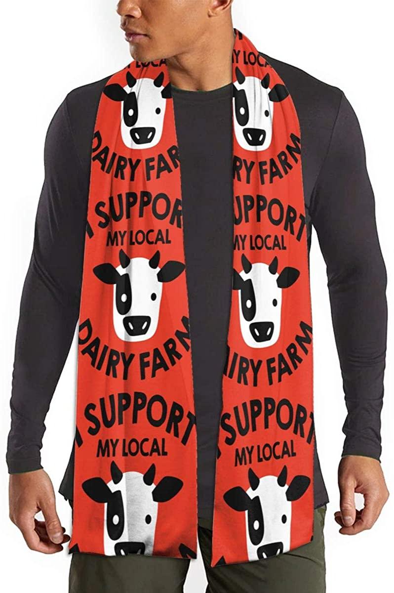 I Support My Local Dairy Farmer. Unisex Warm Shawls Imitation Scarf Winter Neckerchief