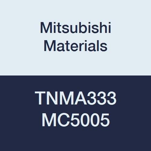 Mitsubishi Materials TNMA333 MC5005 Carbide TN Type Negative Turning Insert with Hole, Coated, Triangular, 0.375