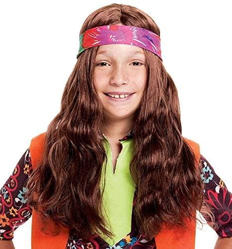 Paper Magic Long Hippie Child Costume Wig
