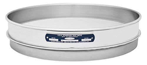 Gilson V12SH #50 Stainless Steel Sieve, 50, 12