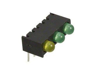 DIALIGHT 551-0003-828F Yellow/Green/Green 10/12.6 mcd 2.1 V Right Angle LED Circuit Board Indicator T-1 - 50 item(s)