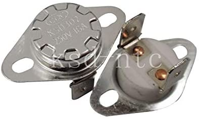 Bimetal Thermostat KSD302/KSD301 Ceramics 16A250V 40C 45C 50C 55C 60C 65C 70C 75C 80C 85C 90C 92 95Cdegrees Normally Closed open - (Color: 80C, Voltage: Normally Closed-NC)