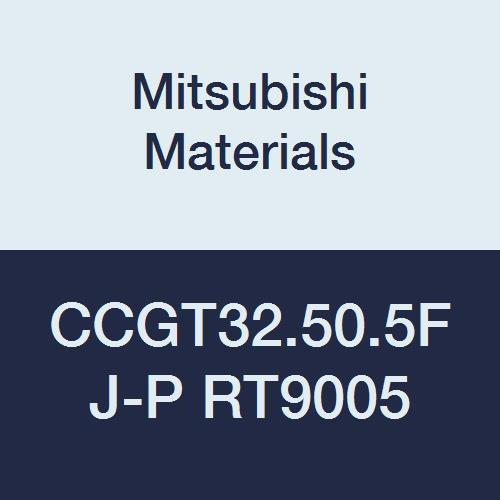 Mitsubishi Materials CCGT32.50.5FJ-P RT9005 Cemented Uncoated Carbide CC Type Positive Turning Insert with Hole, Rhombic 80°, 0.375