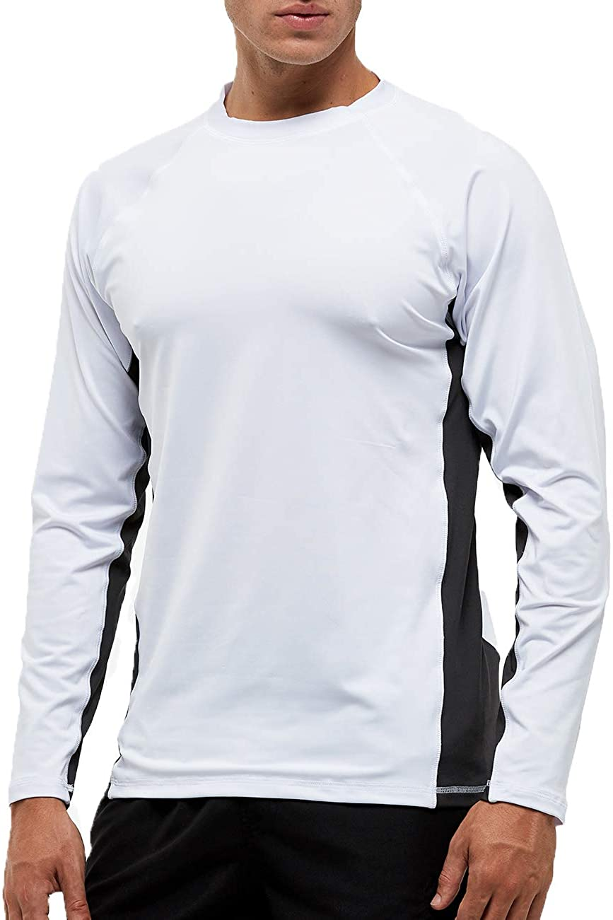 DUOFIER Men UPF 50+ UV Sun Protection Outdoor Long Sleeve Performance T-Shirt for Fishing, Hiking, Outdoor Running