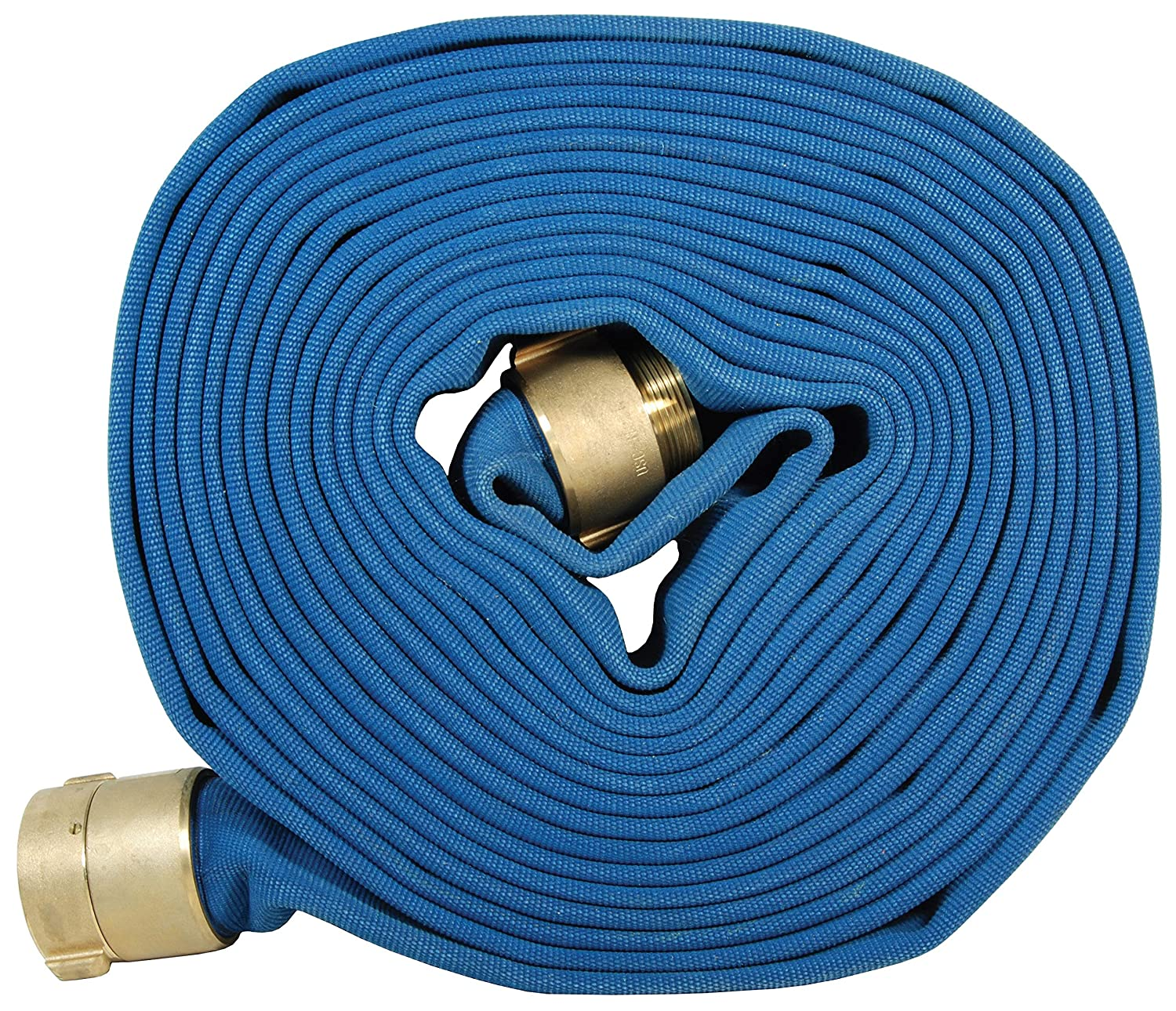 Dixon PW615B100RBF Stainless Steel Blue Double Jacket Potable Water Hose Coupled Rill Brass NST, 100 psi, 100' Length, 1.5