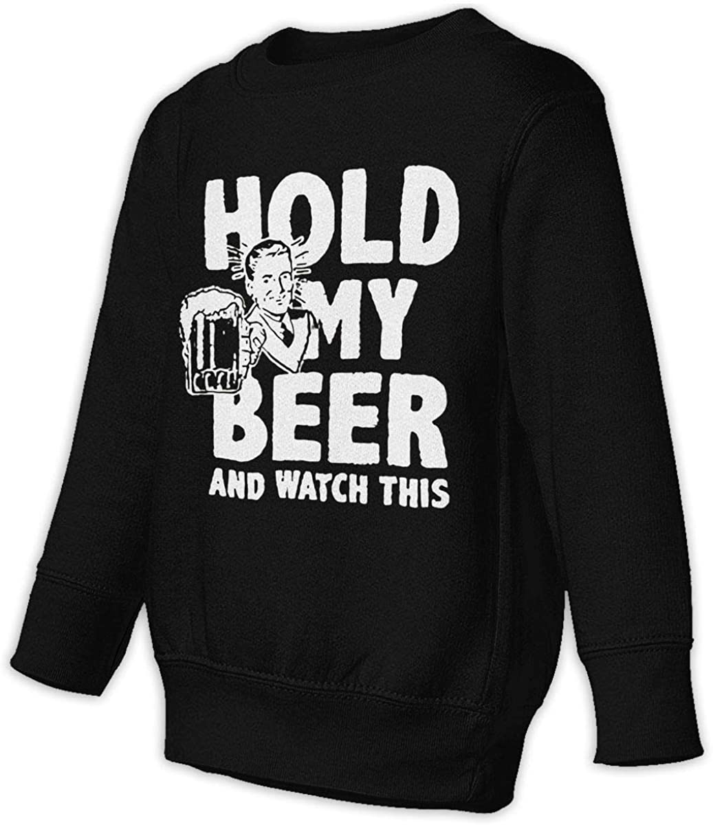NOT Hold My Beer Unisex Sweatshirt Youth Boy and Girls Pullover Sweatshirt Black