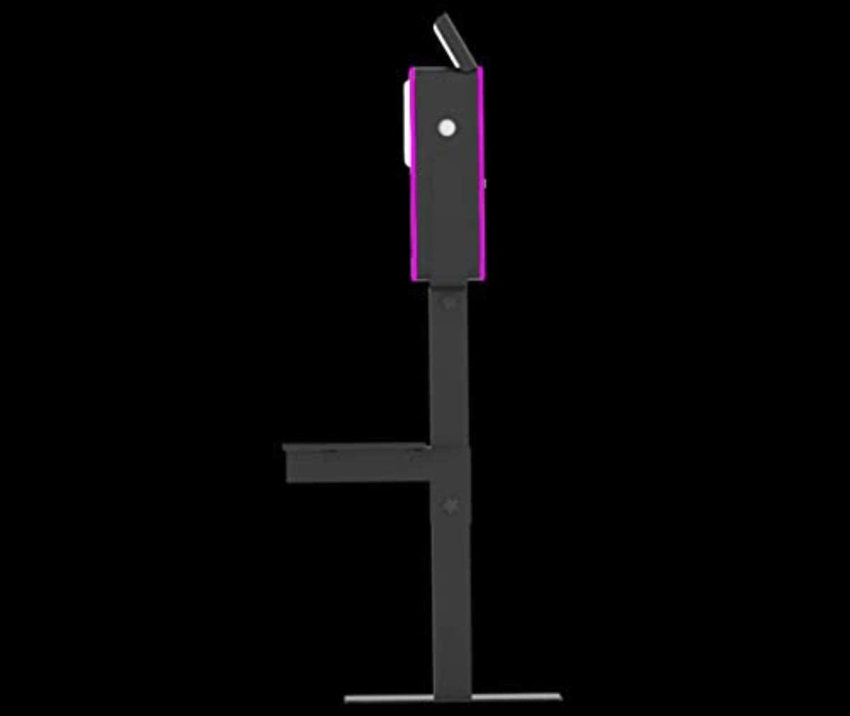Lumia Photobooth Attractive Aluminum Enclosure Quick Flip Bounce Card Column Baseplate & Strobe Flash Medium DIY Shell (Printer Shelf & Travel CASE with, Black)