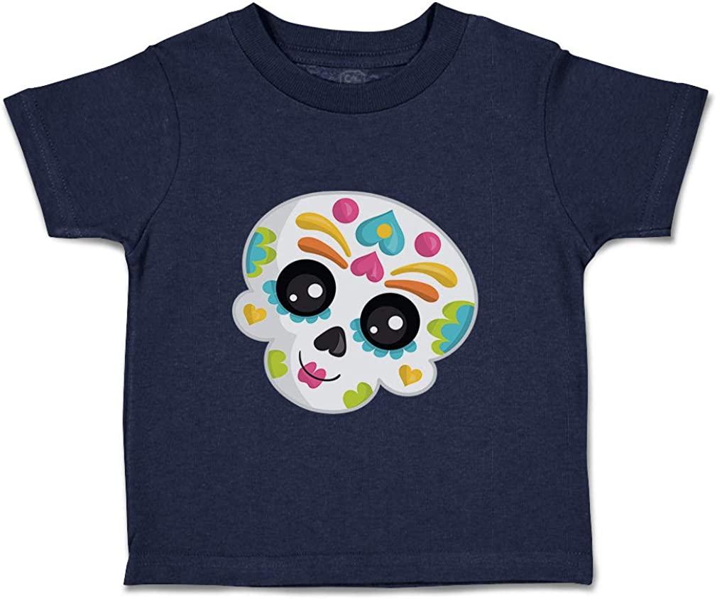 Custom Baby & Toddler T-Shirt Sugar Skull 4 Cotton Boy Girl Clothes