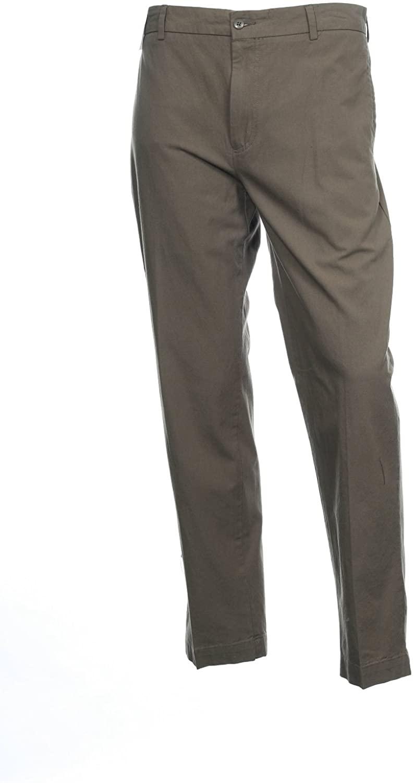 Alfani Men's Surplus(Beige) Cotton Slim Fit Flat Front Chambray Pants
