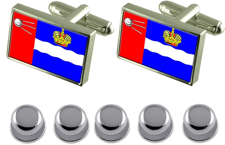 Select Gifts Shirt Dress Studs Kalvga City Russia Flag Cufflinks