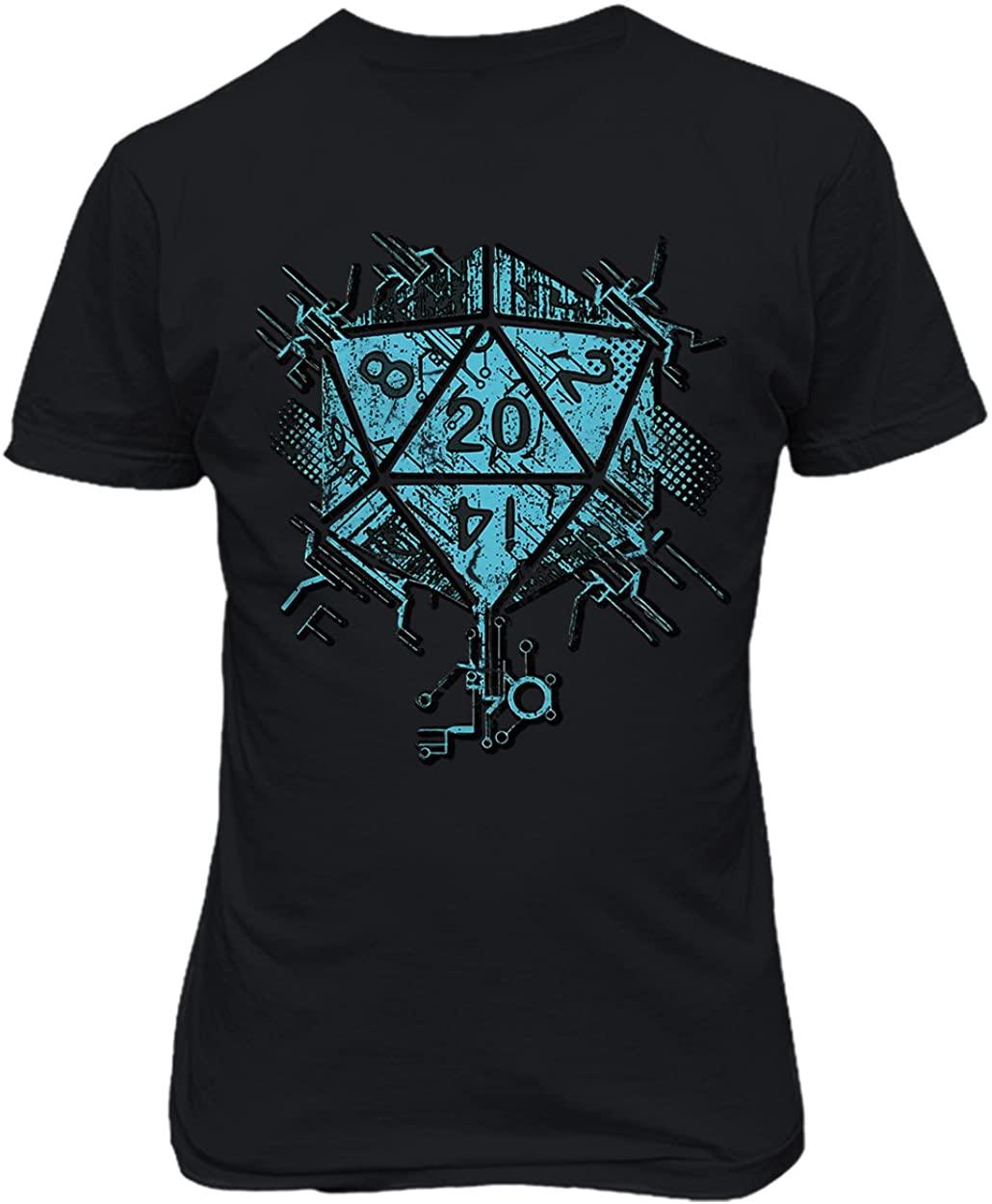RIVEBELLA New Graphic Shirt Cyber Dice DND DandD Novelty Tee Dungeons Mens T-Shirt