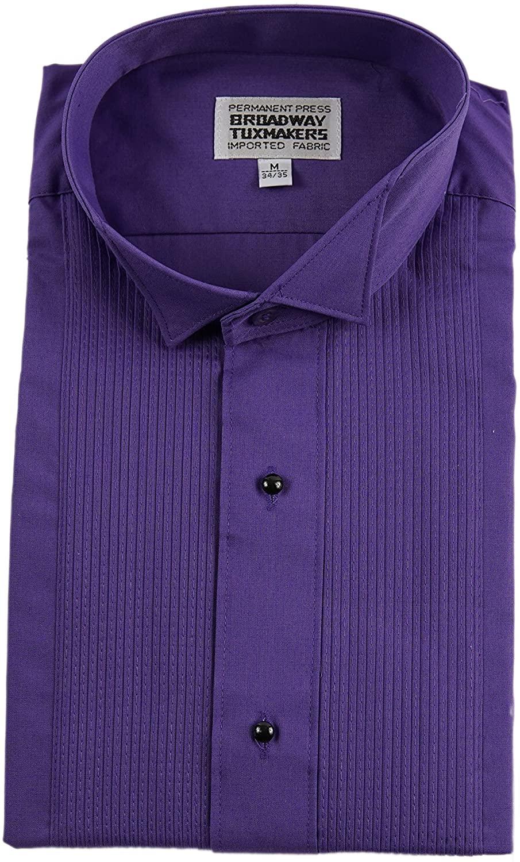 Broadway Tuxmakers Men's Tuxedo Shirt, Purple