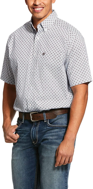 ARIAT Mens Lockhart Print Stretch Classic Fit Shirt