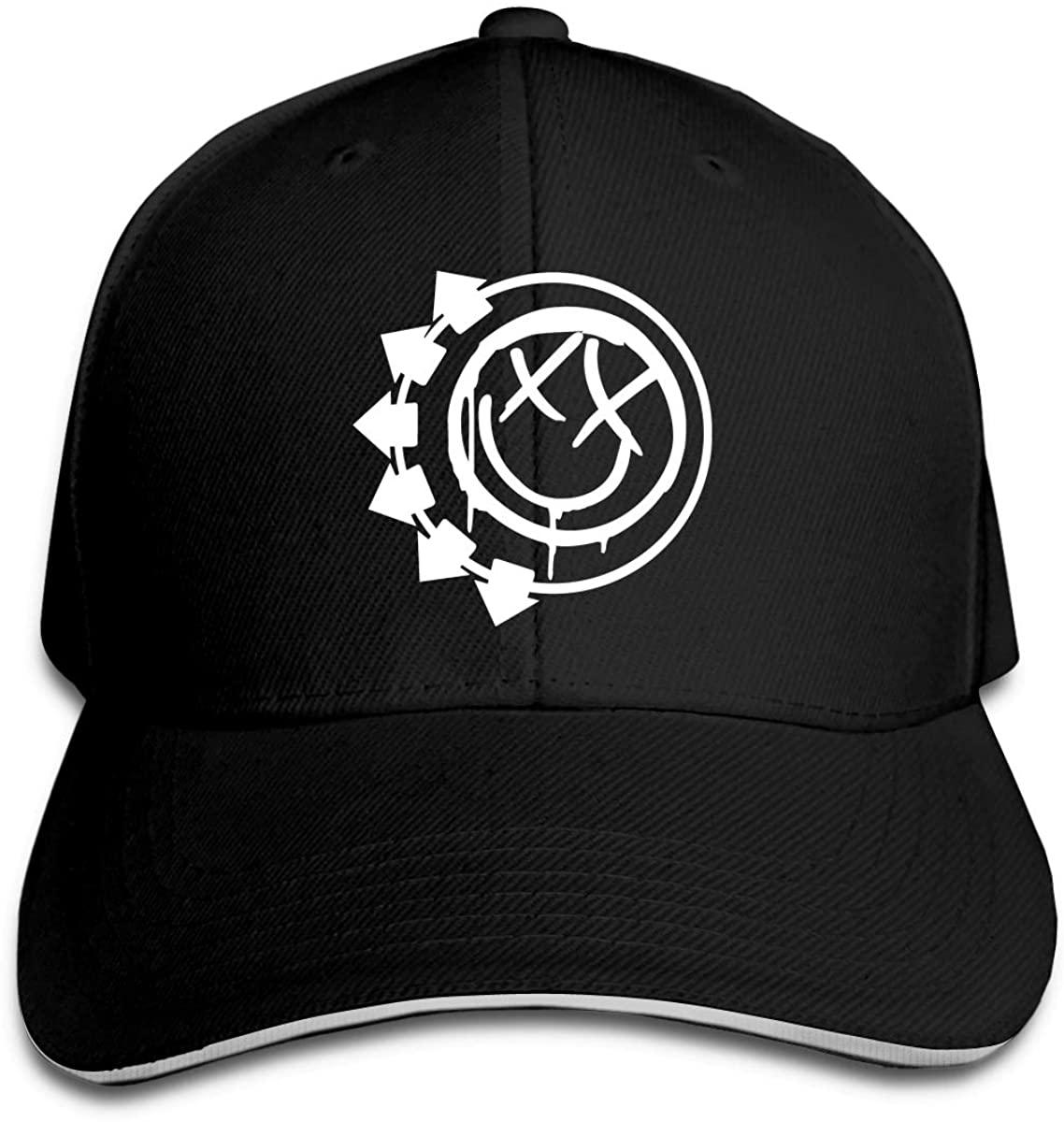 Blink 182 EU Deck Classic Baseball Cap Unisex Cotton Adjustable Hat for Kids Teens Adults