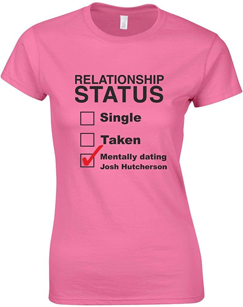 Brand88 - Mentally Dating Josh Hutcherson, Ladies Printed T-Shirt