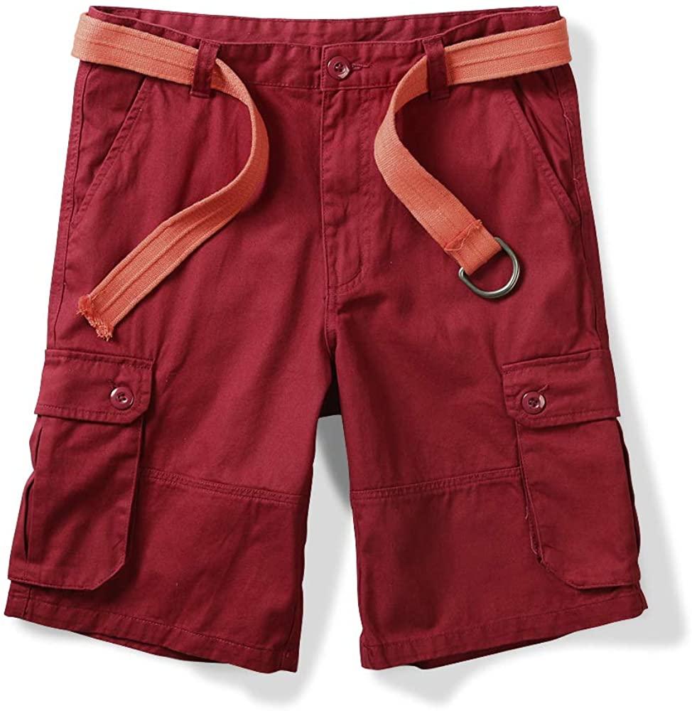 OCHENTA Men's Classic Loose Fit Twill Cargo Shorts Boxdeaux 40