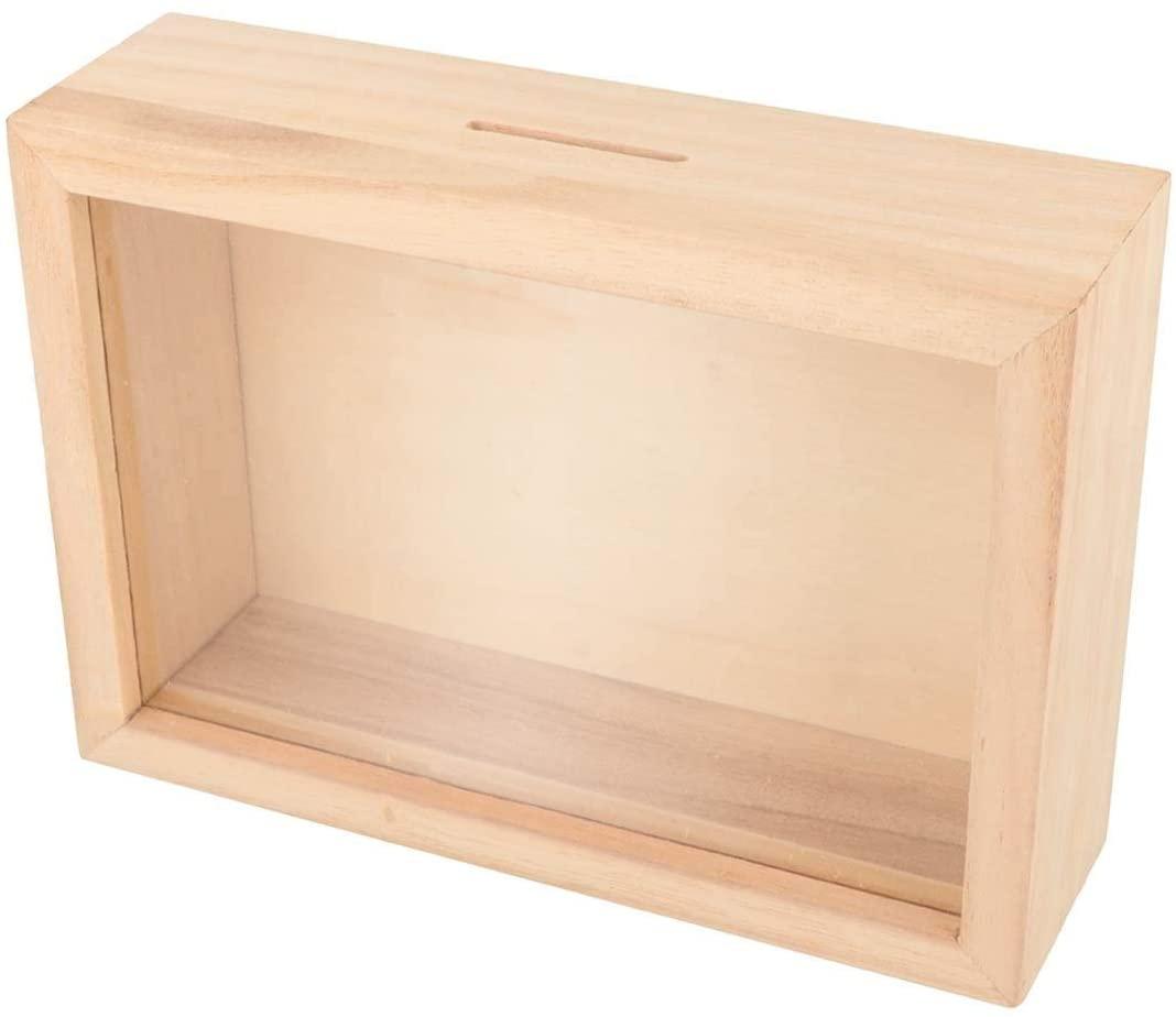 Artemio Wooden moneybox to Customize 12 x 17 cm