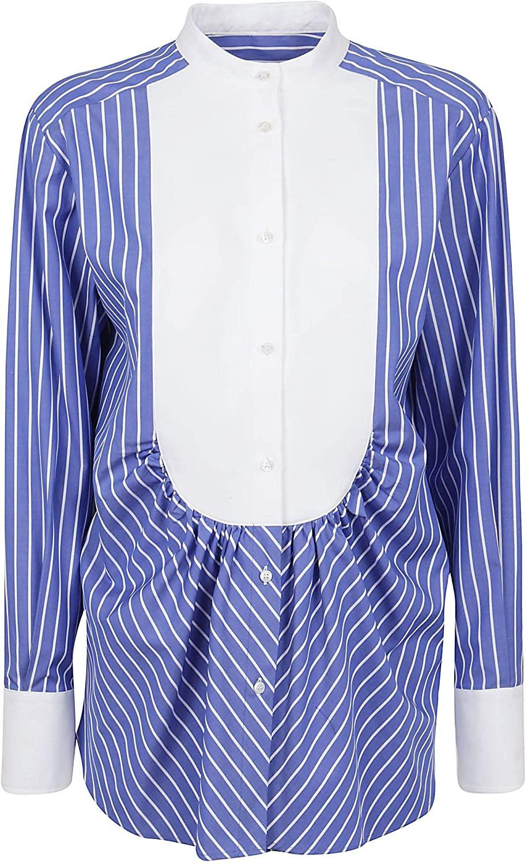 MSGM Luxury Fashion Woman 2841MDE09X20700384 Blue Cotton Shirt   Spring Summer 20