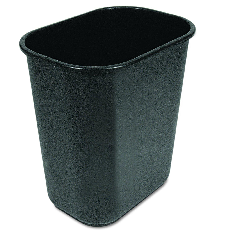 Boardwalk 28QTWBBLA Soft-Sided Wastebasket, 28 quart, Black.