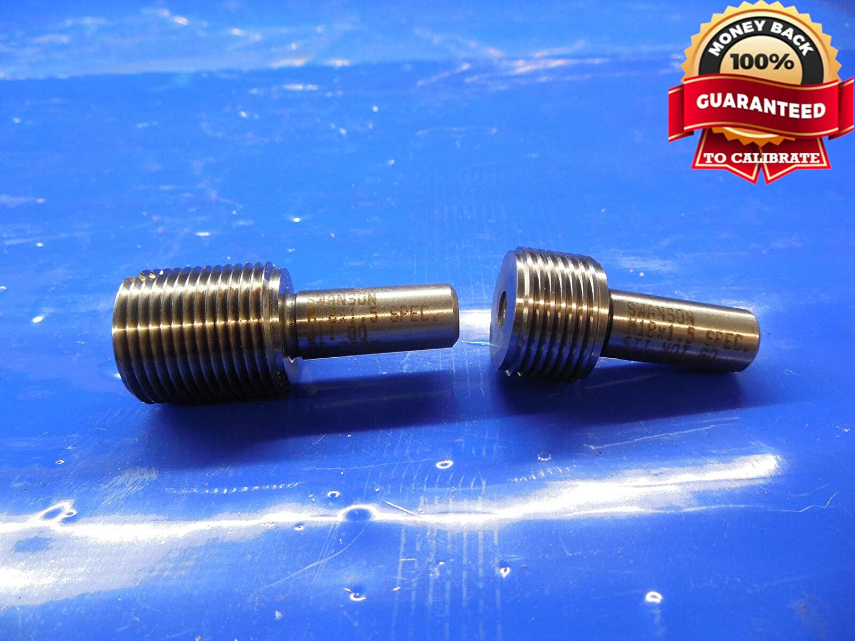 M18 X 1.5 STI SPEC Metric Thread Plug GAGE 18.0 GO NO GO P.D.'S = .7523 & .7543