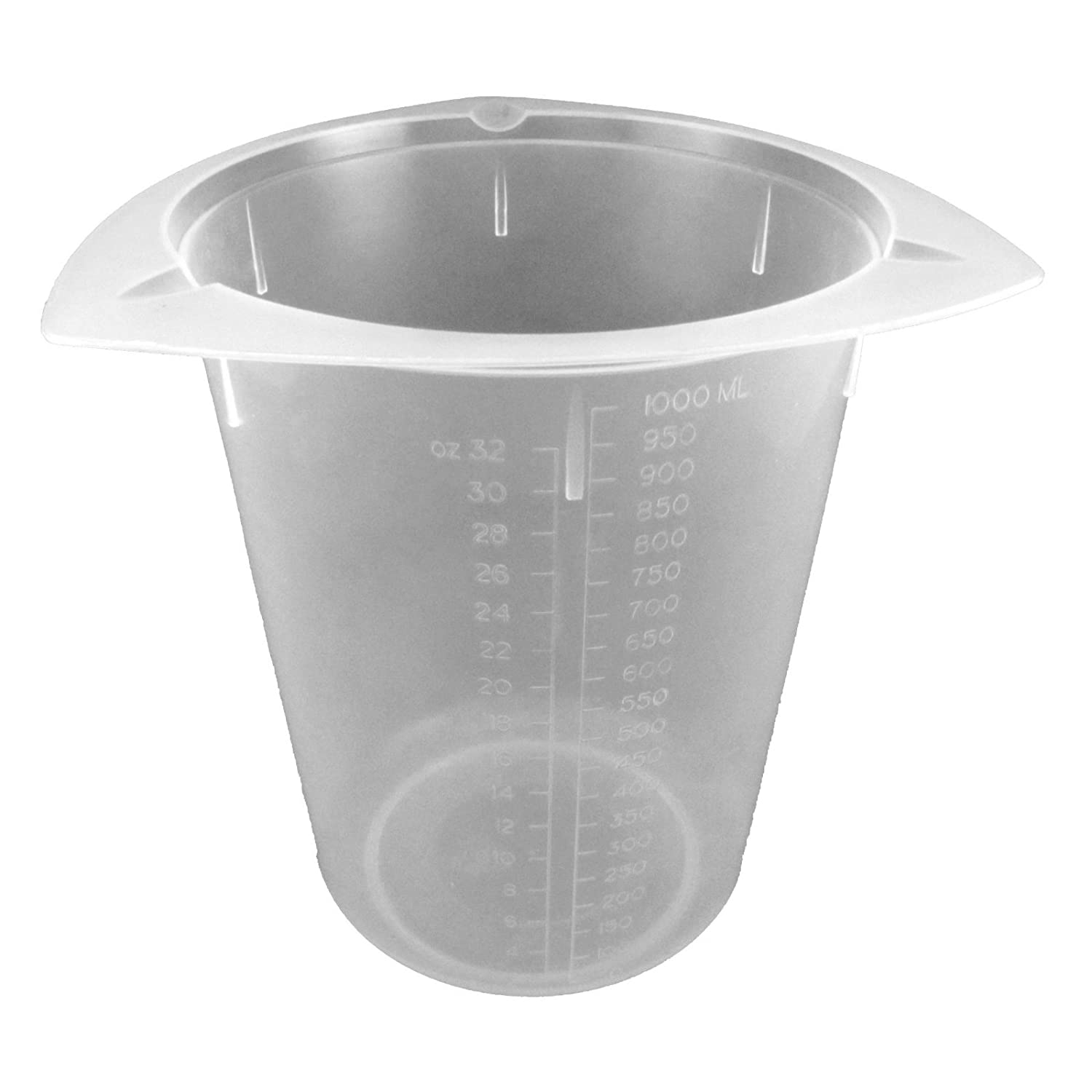 Dyn-A-Med 80092 Polypropylene Tri-Pour Disposable Beaker, 50mL Capacity (Case of 100)