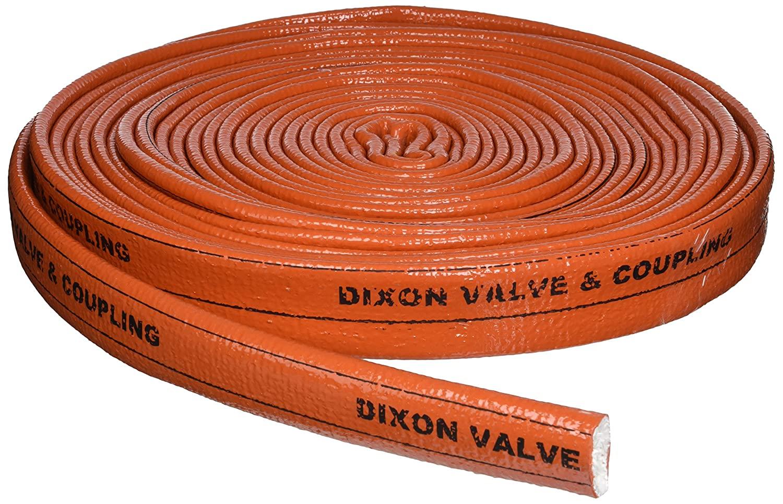 Dixon Valve 2510-16 Iron Oxide Red Fiberglass Hose Fire Jacket, 50' Length, 1