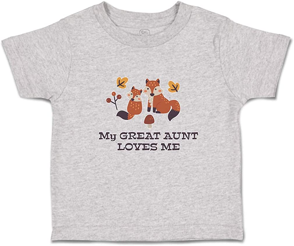 Custom Toddler T-Shirt My Great Aunt Loves Me Cotton Boy & Girl Clothes