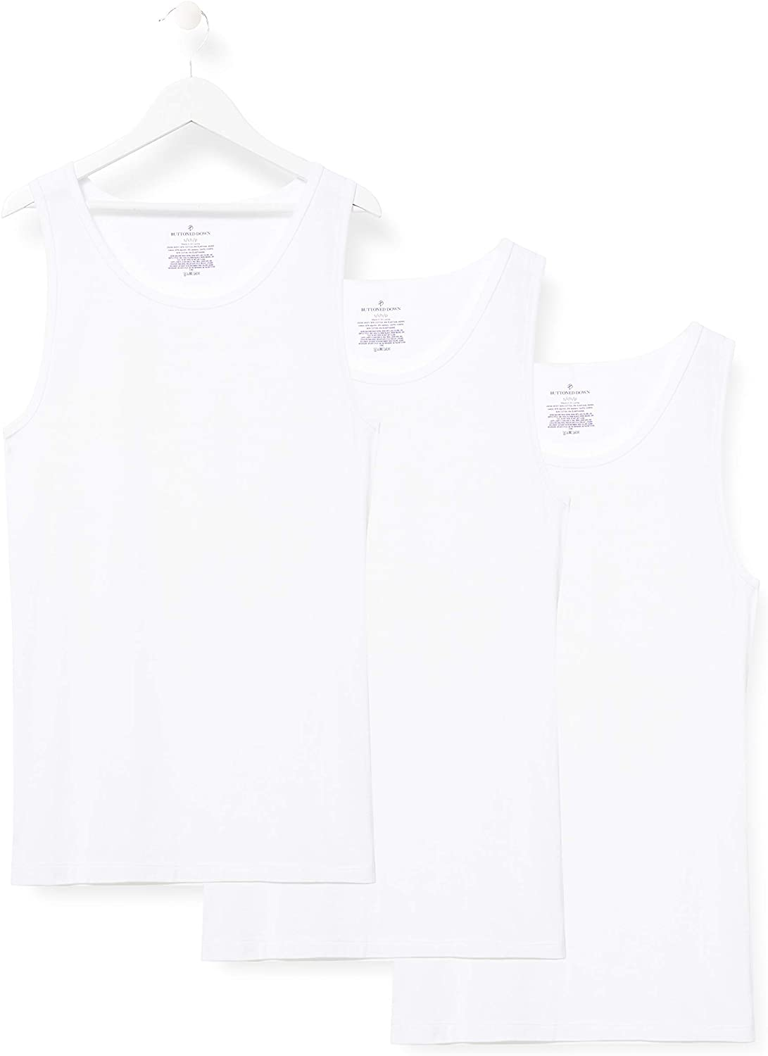 DHgate Brand - Buttoned Down Men's 3-Pack Supima Cotton Stretch Athletic Tank Undershirts