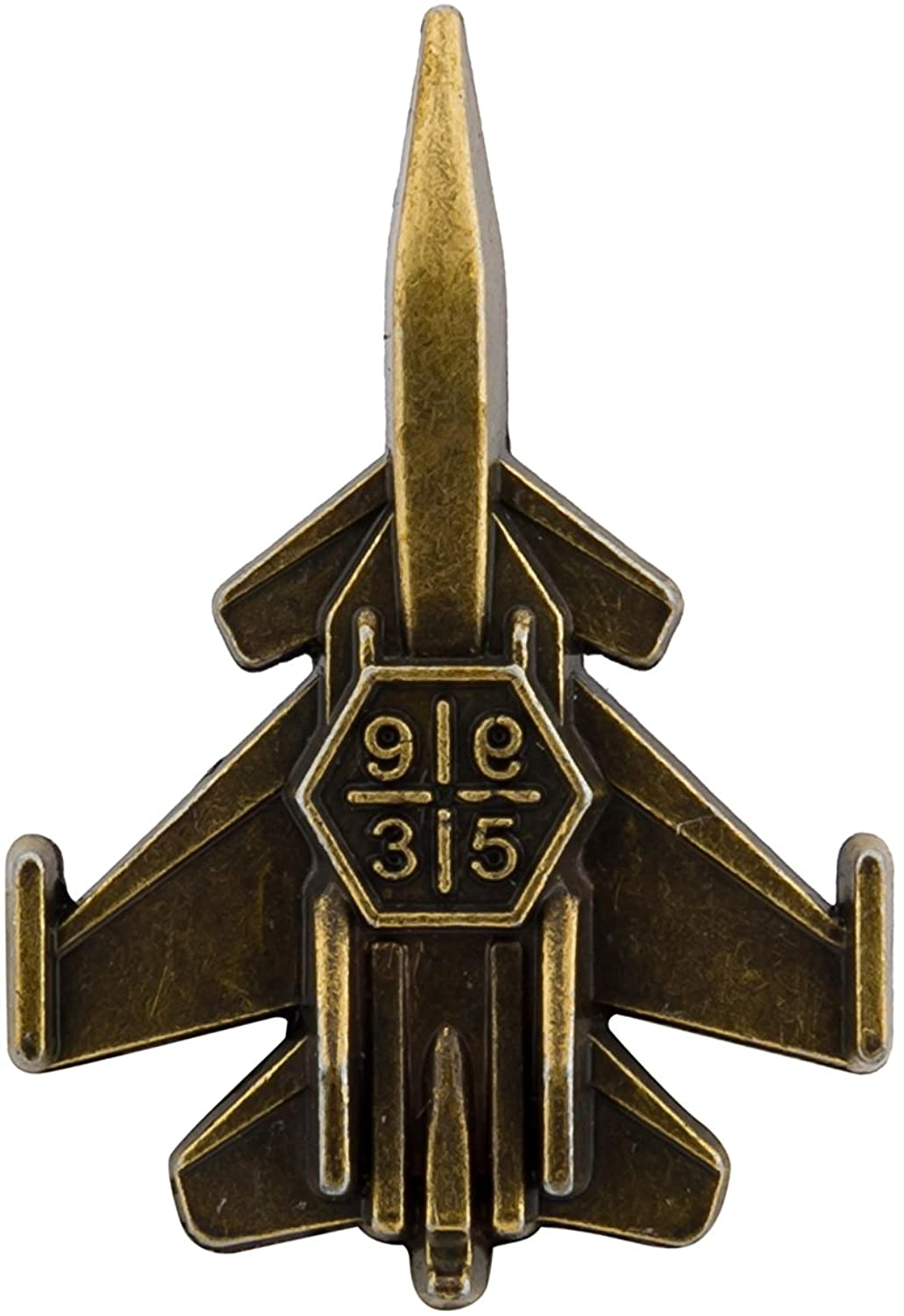 Knighthood Fighter Jet Aircraft,Airplane Bronze Lapel Pin Badge Coat Suit Wedding Gift Party Shirt Collar Accessories Brooch for Men
