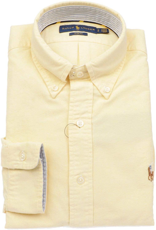 Ralph Lauren Luxury Fashion Man 710723607009 Yellow Cotton Shirt | Season Permanent