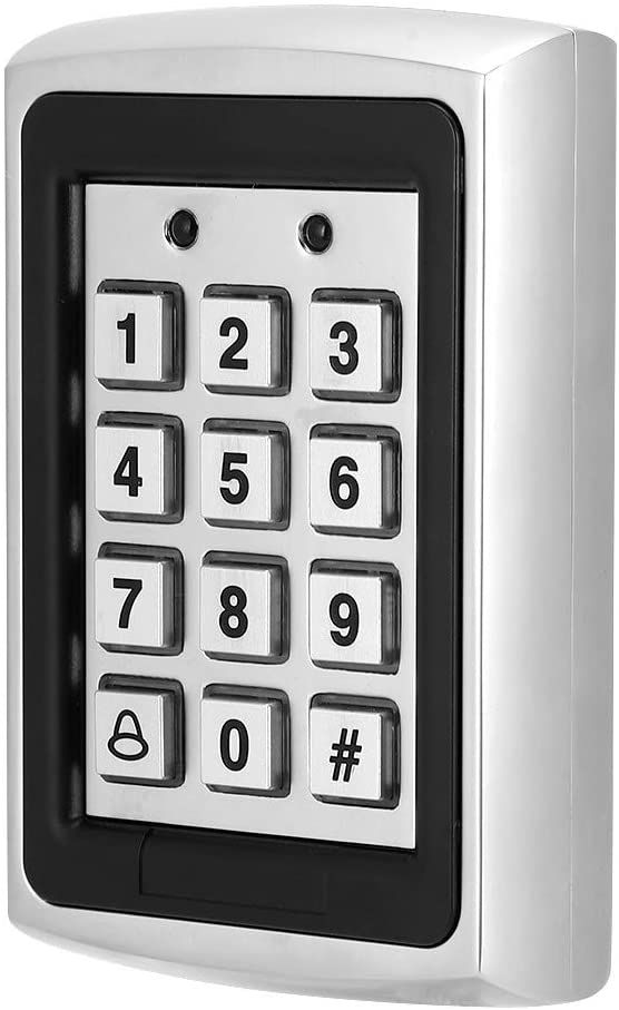 Tosuny RFID Access Controller, Door Access Controller Keypad Password with 1000 Users, Waterproof Metal System Controller with Backlight for Home