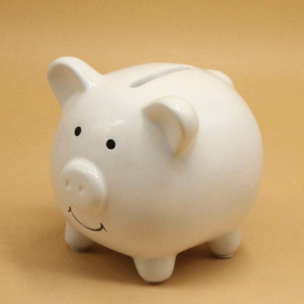 lliang Money Boxes Money Saving Case Home Decor Children Toys Money Boxes Cartoon Pig Shaped Birthday Gift Coins Cash Storage