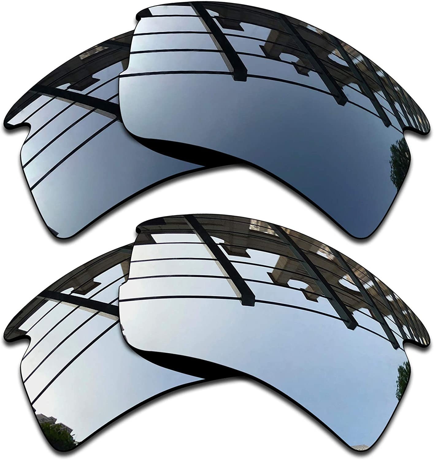 SEEABLE Premium Polarized Mirror Replacement Lenses for Oakley Flak 2.0 Asian Fit OO9271 Sunglasses