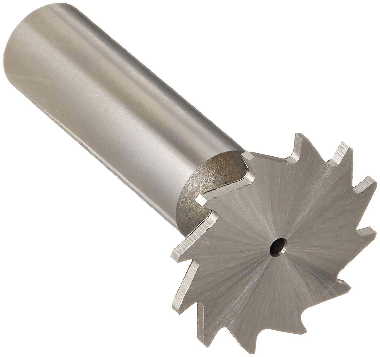 KEO 69140 High-Speed Steel Narrow Width Keyseat Cutter, Uncoated (Bright) Finish, Round Shank, 1/2